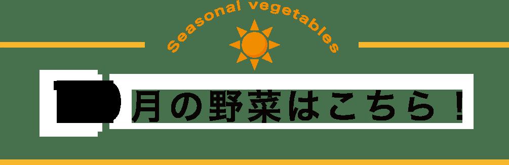 10月の野菜!